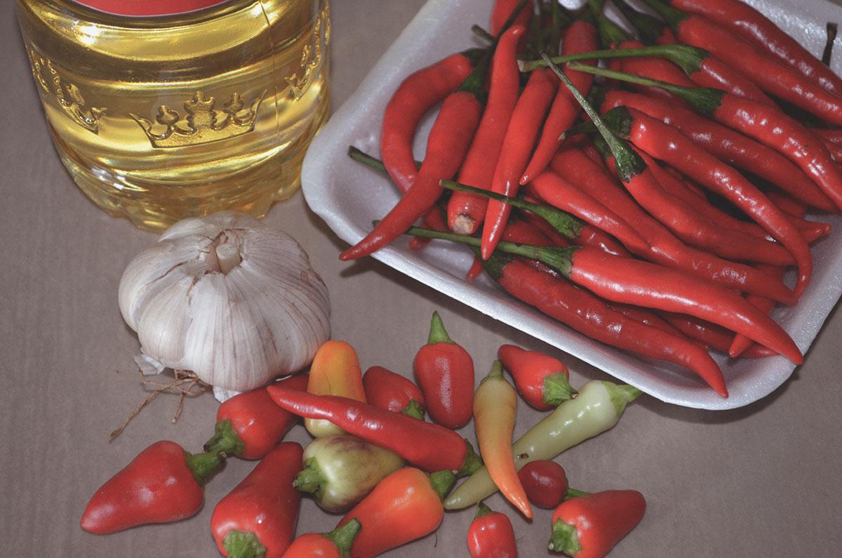Ингредиенты для соуса чили