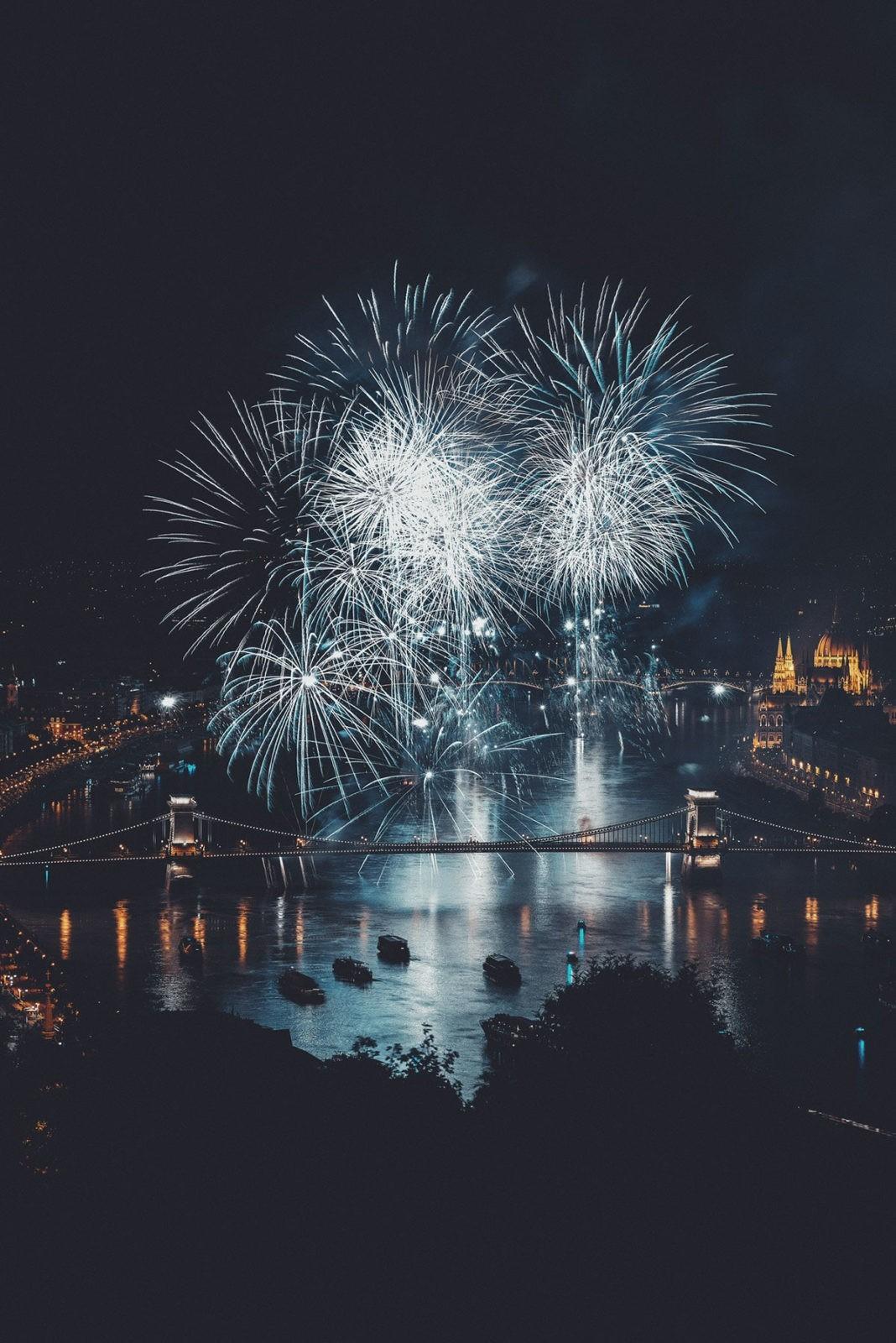 Новогодний салют в Будапеште