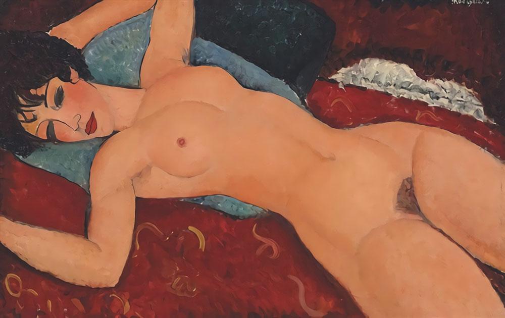 Картина Амедео Модильяни, в Nu Couché