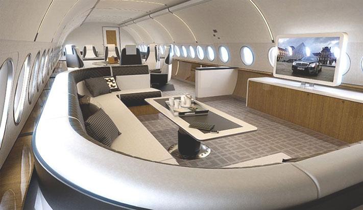 Airbus ACJ319 Elegance салон