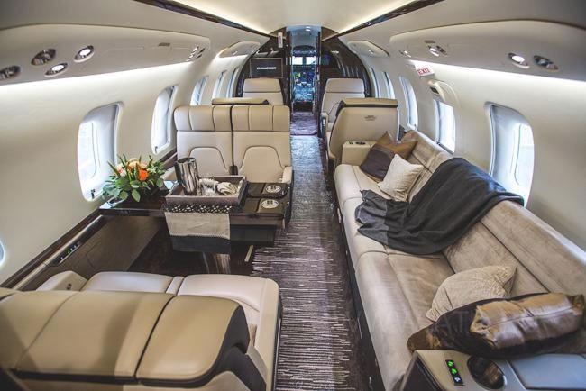 Bombardier Challenger 650 салон
