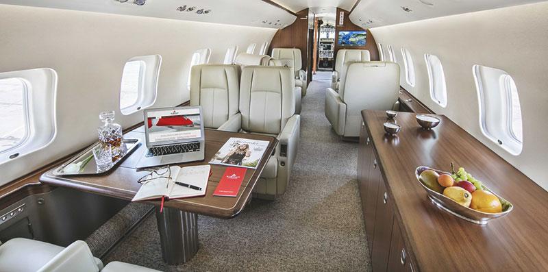 Bombardier Global 6000 салон