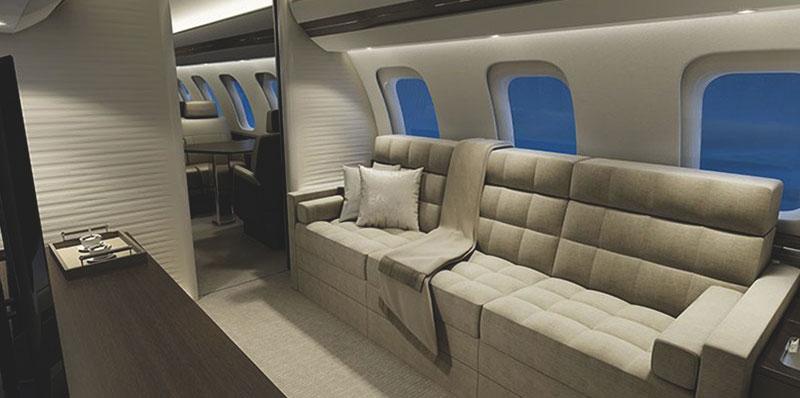 Bombardier Global 7000 салон