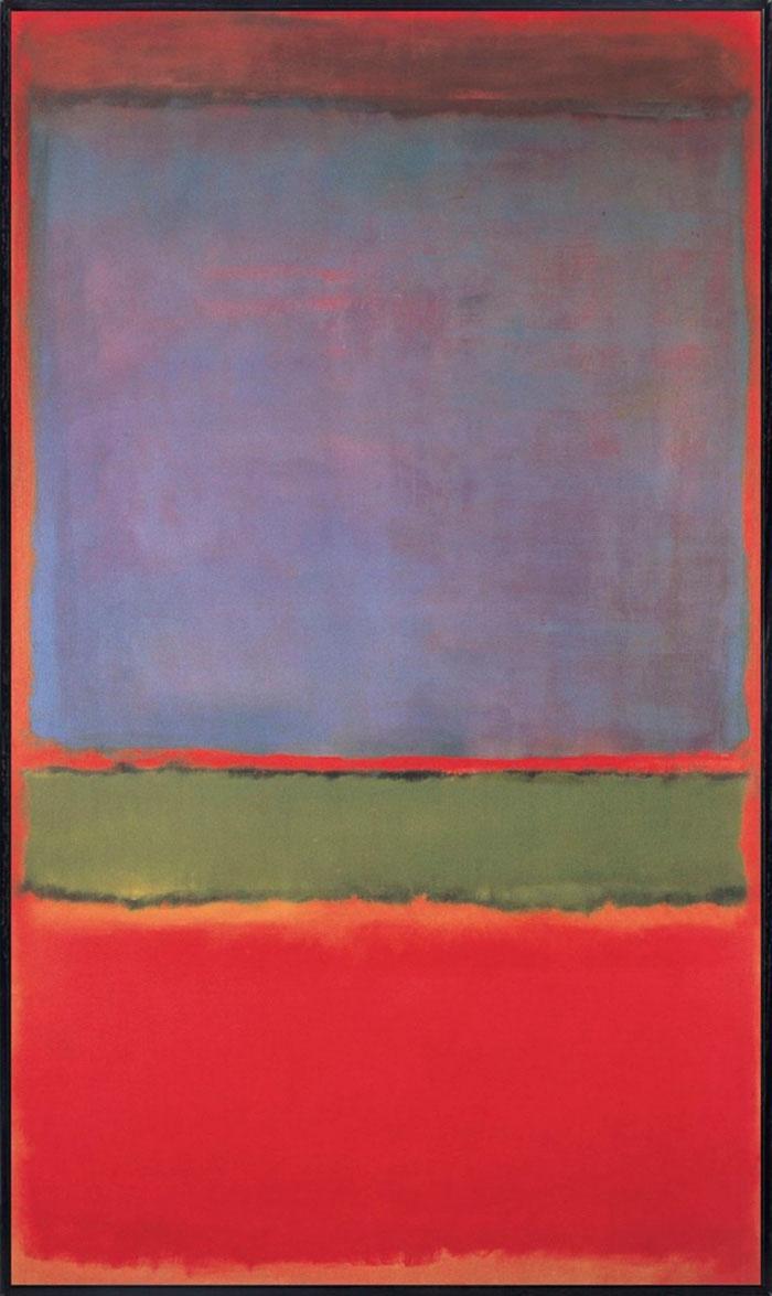 Картина № 6 (фиолетовый, зеленый и красный)
