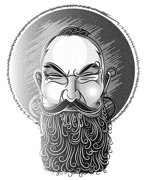 Бородатый рисунок