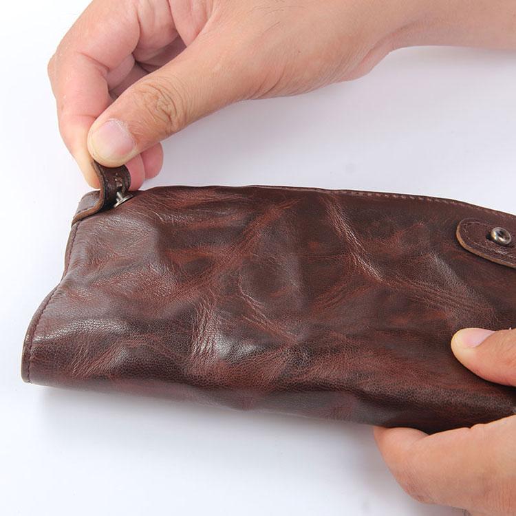 Кожаный бумажник ручной работы от фирмы AETOO