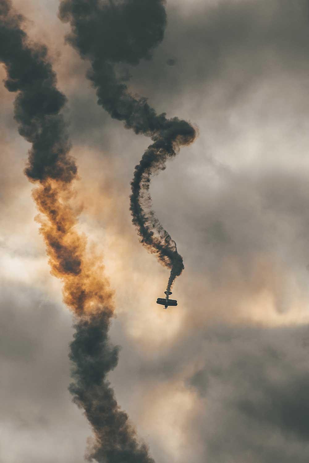 Падение самолёта по причине сна пилота