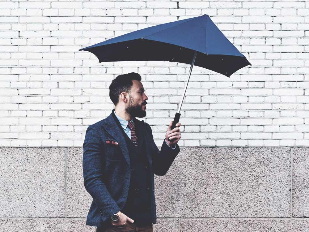Мужской зонт антиветер