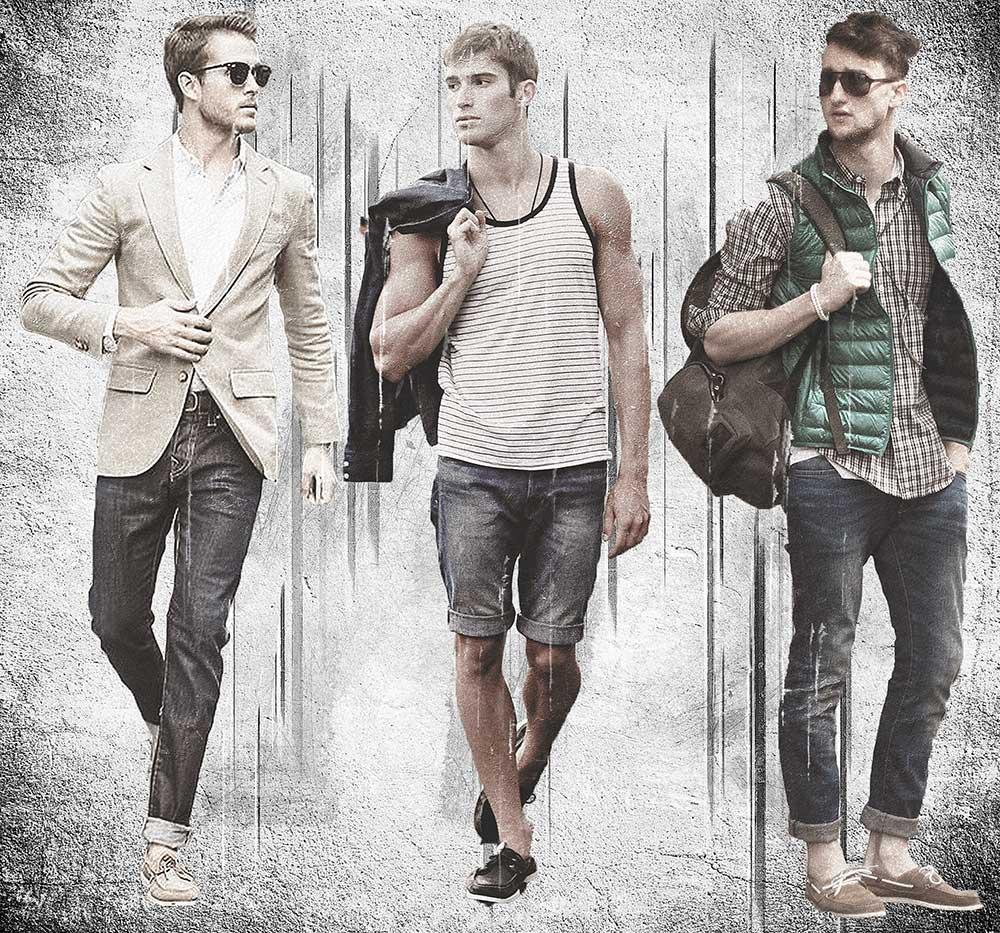 С чем носить мужские топсайдеры