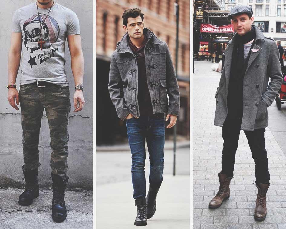 Стилевое сочетание мужских берцев с одеждой