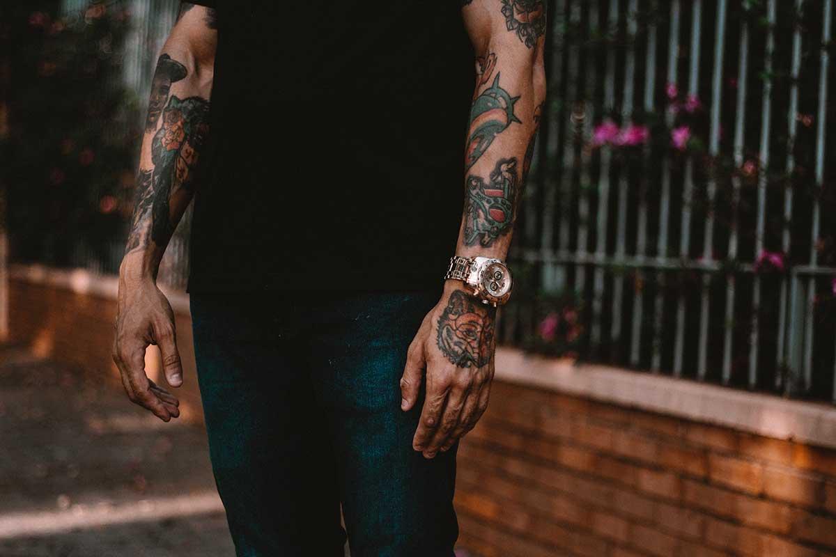 Мужские татуировки на руках