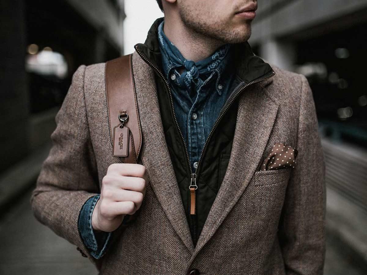 Английский стиль одежды мужчины