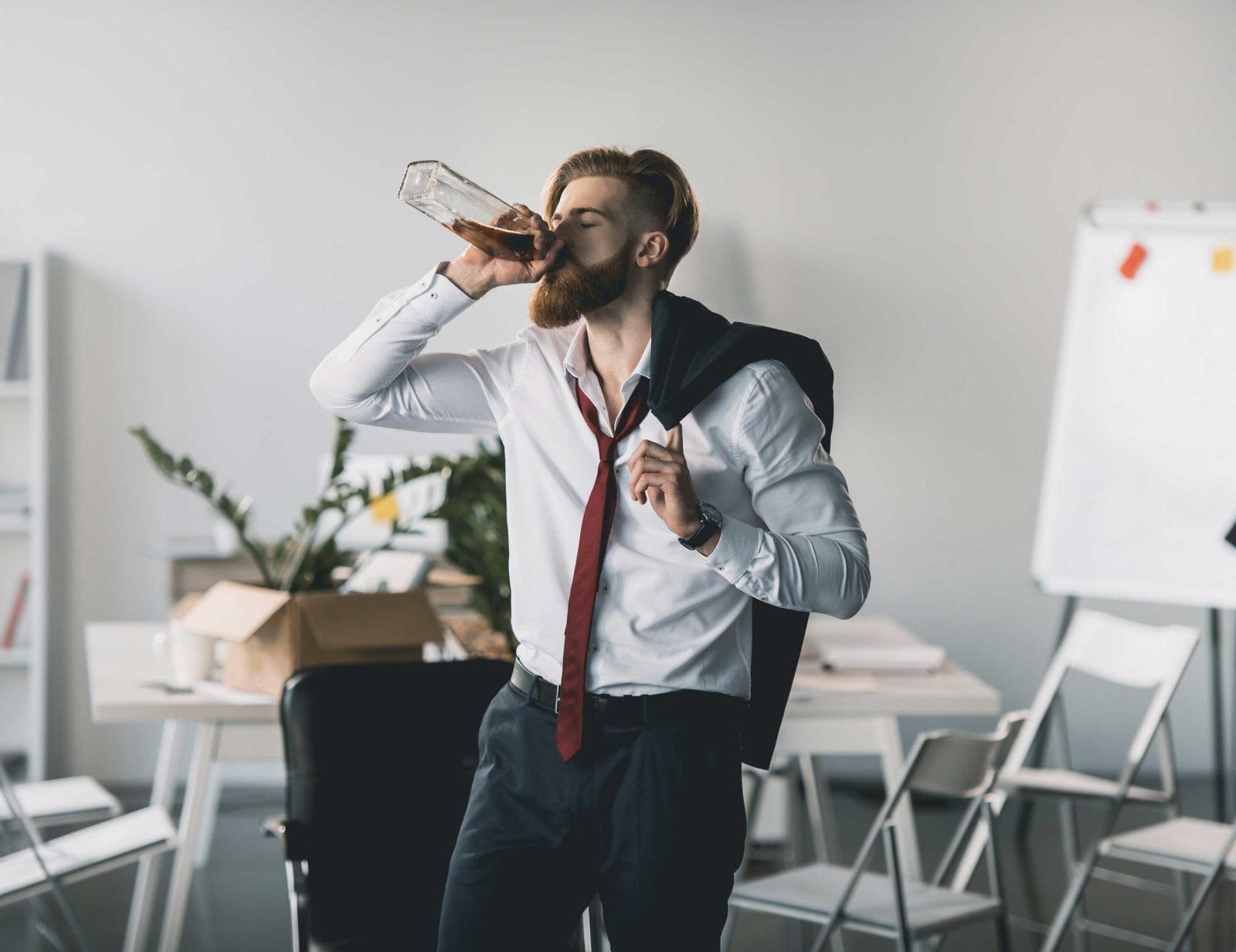 Пьяный на работе