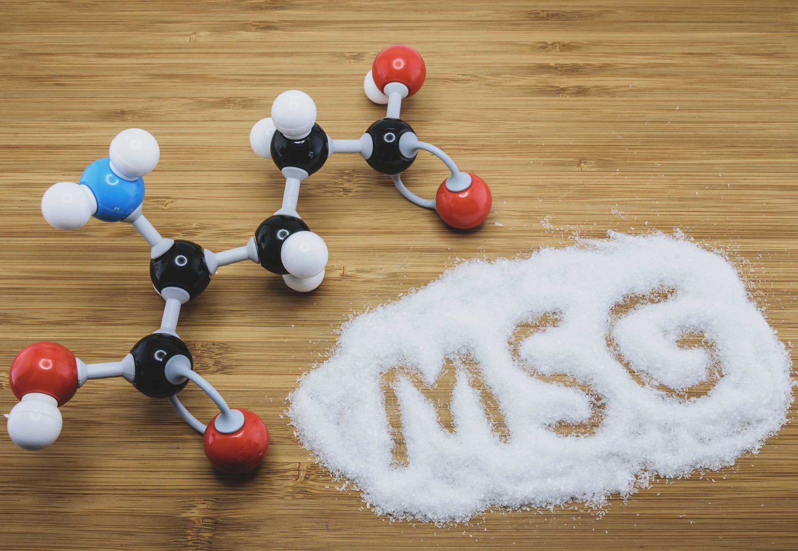 Molecular structure of Monosodium glutamate (MSG)
