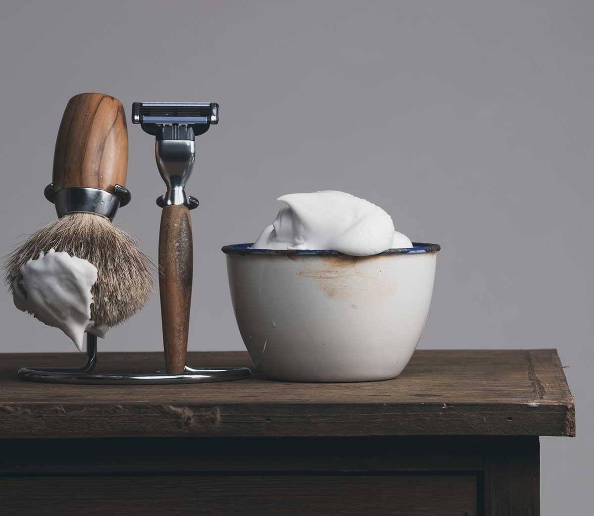 Винтажный набор для бритья