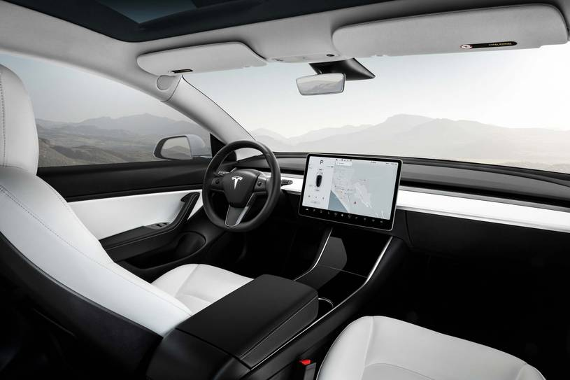 Tesla Model 3 Performance Sedan Dashboard