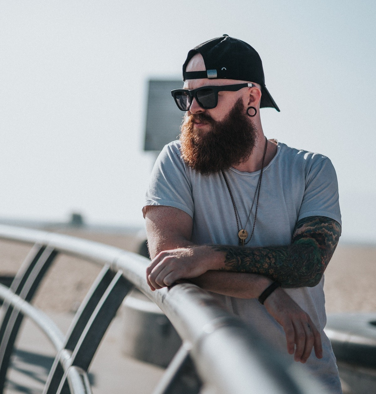 Борода летом