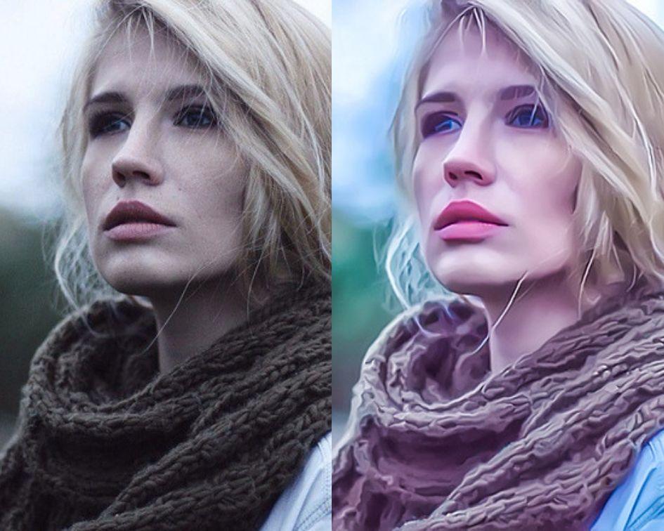 Портрет в стиле CG - до и после