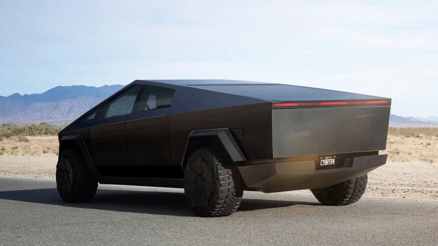 Чёрный Tesla Cybertruck