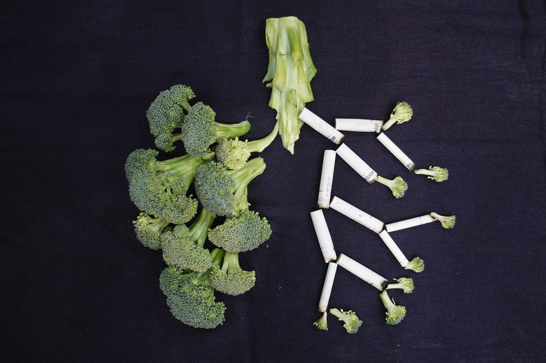 Брокколи в форме лёгких