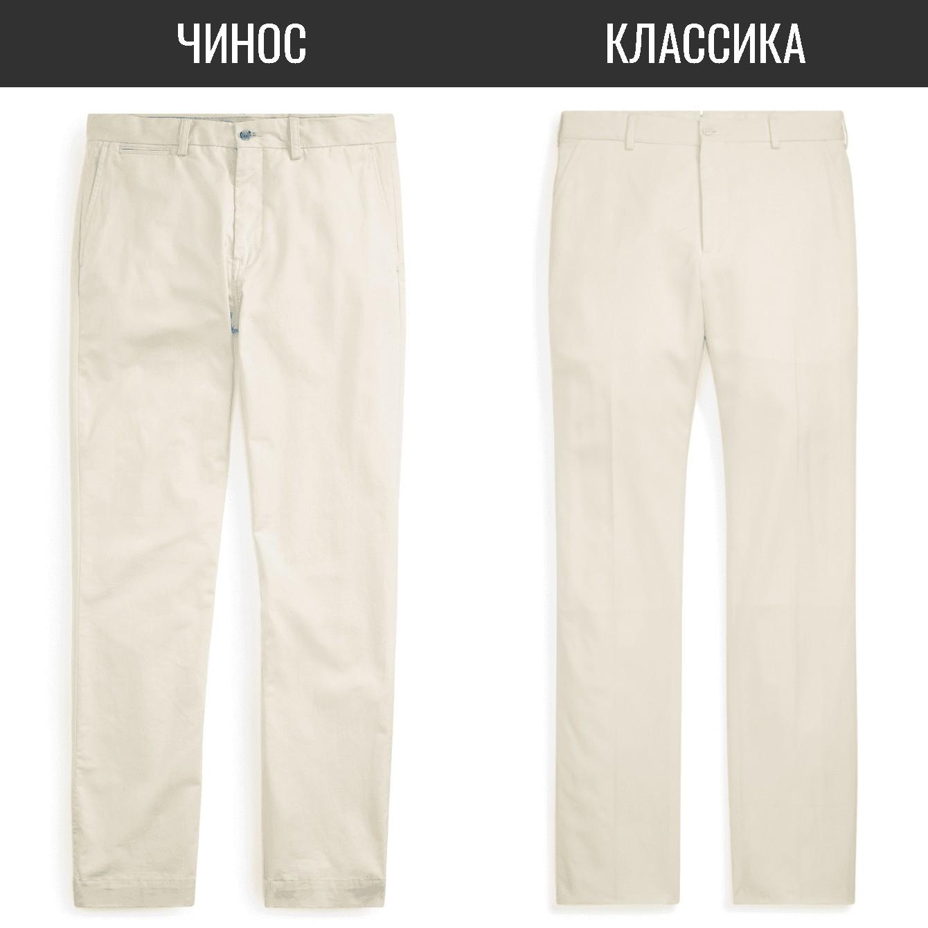 Чинос и классические брюки
