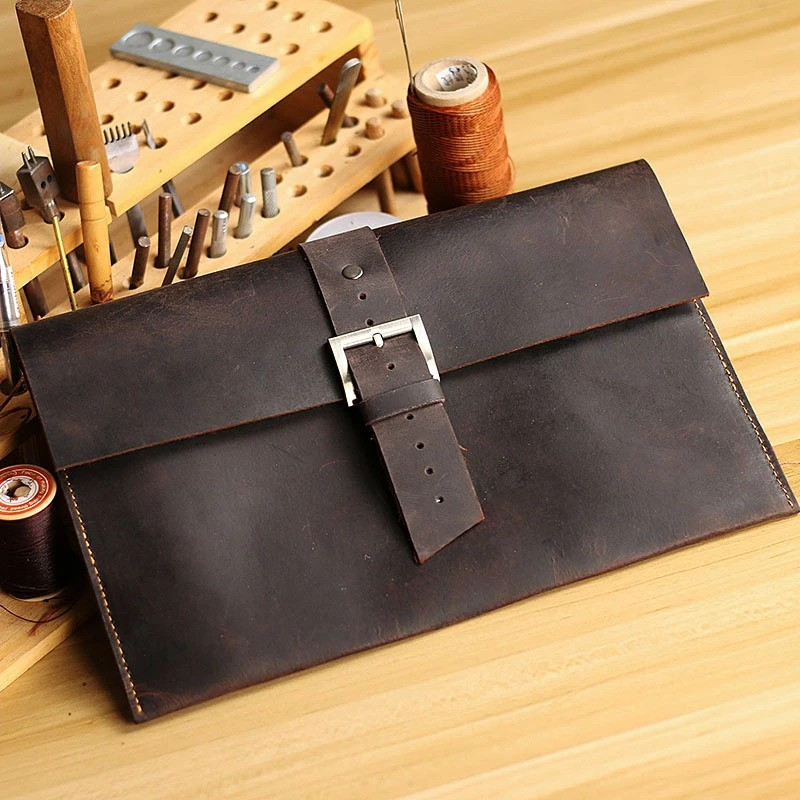 Leather men's clutch
