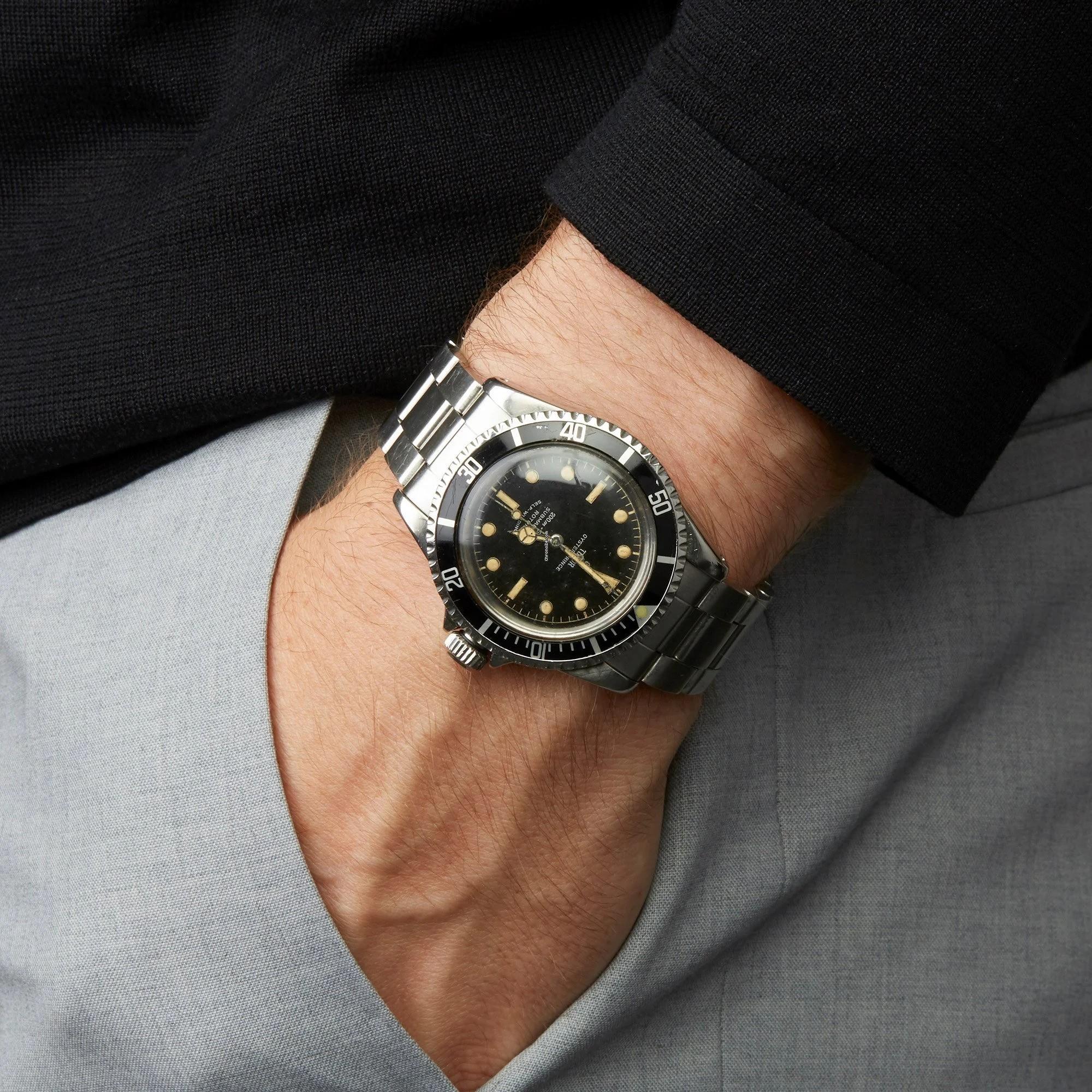 Мужские часы Tudor Submariner Pointed Guards Vintage Steel 7928